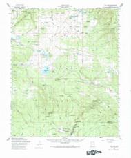 Big Lake, Arizona 1958 (1984) USGS Old Topo Map Reprint 15x15 AZ Quad 314369