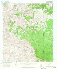 Big Lue Mountains, Arizona 1962 (1971) USGS Old Topo Map Reprint 15x15 AZ Quad 314370