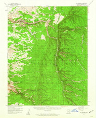 Big Springs, Arizona 1958 (1960) USGS Old Topo Map Reprint 15x15 AZ Quad 314373