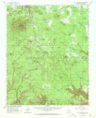 Bill Williams Mountain, Arizona 1962 (1971) USGS Old Topo Map Reprint 15x15 AZ Quad 314375