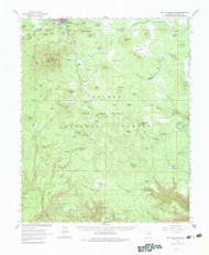 Bill Williams Mountain, Arizona 1962 (1983) USGS Old Topo Map Reprint 15x15 AZ Quad 314377