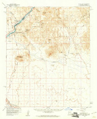 Black Peak, Arizona 1959 (1961) USGS Old Topo Map Reprint 15x15 AZ Quad 314390