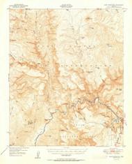 Blue House Mountain, Arizona 1951 (1951) USGS Old Topo Map Reprint 15x15 AZ Quad 314400