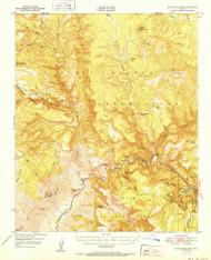 Blue House Mountain, Arizona 1951 (1951) USGS Old Topo Map Reprint 15x15 AZ Quad 314399
