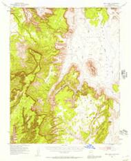 Boot Mesa, Arizona 1952 (1957) USGS Old Topo Map Reprint 15x15 AZ Quad 314404