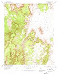 Boot Mesa, Arizona 1952 (1974) USGS Old Topo Map Reprint 15x15 AZ Quad 314406