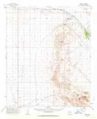 Bouse, Arizona 1962 (1964) USGS Old Topo Map Reprint 15x15 AZ Quad 314408