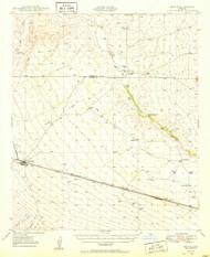 Bowie, Arizona 1950 (1950) USGS Old Topo Map Reprint 15x15 AZ Quad 314411