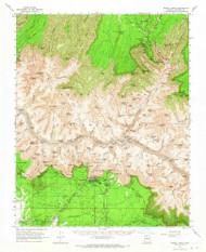 Bright Angel, Arizona 1962 (1965) USGS Old Topo Map Reprint 15x15 AZ Quad 314415