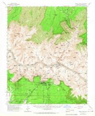 Bright Angel, Arizona 1962 (1967) USGS Old Topo Map Reprint 15x15 AZ Quad 314419