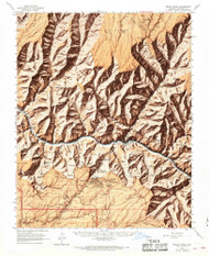 Bright Angel, Arizona 1962 (1968) USGS Old Topo Map Reprint 15x15 AZ Quad 314418