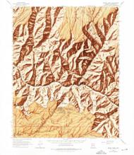 Bright Angel, Arizona 1962 (1975) USGS Old Topo Map Reprint 15x15 AZ Quad 314416
