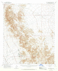 Castle Dome Mountains, Arizona 1965 (1966) USGS Old Topo Map Reprint 15x15 AZ Quad 314463