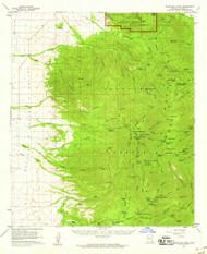 Chiricahua Peak, Arizona 1958 (1958) USGS Old Topo Map Reprint 15x15 AZ Quad 314469