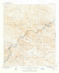 Christmas, Arizona 1915 (1964) USGS Old Topo Map Reprint 15x15 AZ Quad 314475