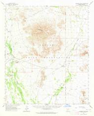 Cimarron Peak, Arizona 1963 (1964) USGS Old Topo Map Reprint 15x15 AZ Quad 314483