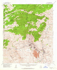 Clifton, Arizona 1962 (1964) USGS Old Topo Map Reprint 15x15 AZ Quad 314492