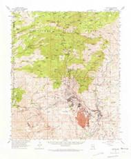 Clifton, Arizona 1962 (1972) USGS Old Topo Map Reprint 15x15 AZ Quad 314491