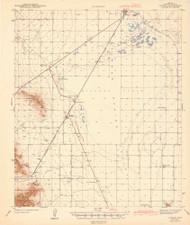 Cochise, Arizona 1943 (1943) USGS Old Topo Map Reprint 15x15 AZ Quad 464653