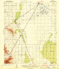 Cochise, Arizona 1943 (1943) USGS Old Topo Map Reprint 15x15 AZ Quad 314496