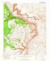 Coconino Point, Arizona 1962 (1964) USGS Old Topo Map Reprint 15x15 AZ Quad 314502