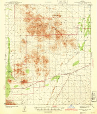 Cocoraque Butte, Arizona 1943 (1943) USGS Old Topo Map Reprint 15x15 AZ Quad 314506