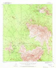 Comobabi, Arizona 1937 (1971) USGS Old Topo Map Reprint 15x15 AZ Quad 314514