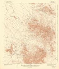 Comobabi, Arizona 1942 (1942) USGS Old Topo Map Reprint 15x15 AZ Quad 464658