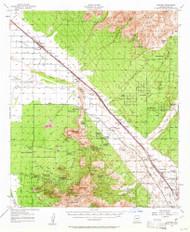 Cortaro, Arizona 1957 (1961) USGS Old Topo Map Reprint 15x15 AZ Quad 314519