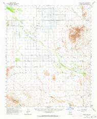Cortez Peak, Arizona 1962 (1964) USGS Old Topo Map Reprint 15x15 AZ Quad 314521