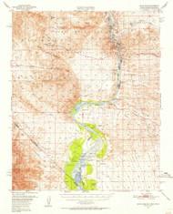 Davis Dam, Arizona 1950 (1955) USGS Old Topo Map Reprint 15x15 AZ Quad 320828