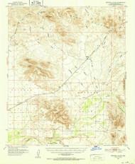 Dendora Valley, Arizona 1951 (1952) USGS Old Topo Map Reprint 15x15 AZ Quad 314528