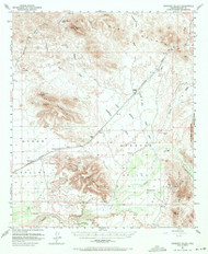 Dendora Valley, Arizona 1951 (1971) USGS Old Topo Map Reprint 15x15 AZ Quad 314526