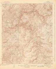 Diamond Butte, Arizona 1943 (1943) USGS Old Topo Map Reprint 15x15 AZ Quad 464666