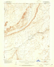 Dinnehotso, Arizona 1952 (1954) USGS Old Topo Map Reprint 15x15 AZ Quad 314540