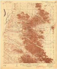 Dome Rock Mountains, Arizona 1940 (1940) USGS Old Topo Map Reprint 15x15 AZ Quad 702561