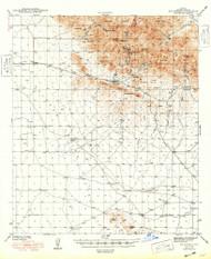 Dos Cabezas, Arizona 1943 (1948) USGS Old Topo Map Reprint 15x15 AZ Quad 314545