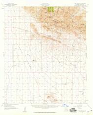 Dos Cabezas, Arizona 1957 (1959) USGS Old Topo Map Reprint 15x15 AZ Quad 314547