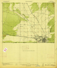 Douglas, Arizona 1914 (1914) USGS Old Topo Map Reprint 15x15 AZ Quad 314552