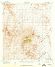 Dragoon, Arizona 1958 (1959) USGS Old Topo Map Reprint 15x15 AZ Quad 314557