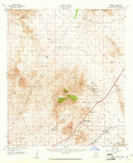 Dragoon, Arizona 1958 (1961) USGS Old Topo Map Reprint 15x15 AZ Quad 314556