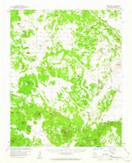 Ebert Mountain, Arizona 1960 (1961) USGS Old Topo Map Reprint 15x15 AZ Quad 314565