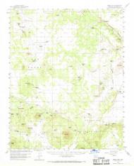 Ebert Mountain, Arizona 1960 (1969) USGS Old Topo Map Reprint 15x15 AZ Quad 314564