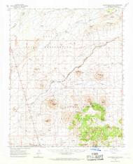 Egloffstein Butte, Arizona 1966 (1968) USGS Old Topo Map Reprint 15x15 AZ Quad 314566