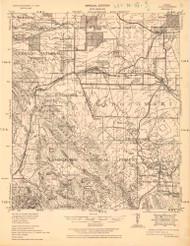 Elgin, Arizona 1932 (1932) USGS Old Topo Map Reprint 15x15 AZ Quad 464681