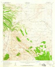 Elgin, Arizona 1958 (1959) USGS Old Topo Map Reprint 15x15 AZ Quad 314571