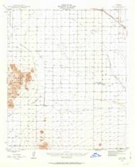 Eloy, Arizona 1947 (1959) USGS Old Topo Map Reprint 15x15 AZ Quad 314572