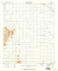 Eloy, Arizona 1947 (1959) USGS Old Topo Map Reprint 15x15 AZ Quad 314573