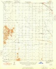 Eloy, Arizona 1948 (1948) USGS Old Topo Map Reprint 15x15 AZ Quad 314574