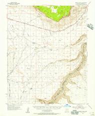 Emmett Wash, Arizona 1954 (1956) USGS Old Topo Map Reprint 15x15 AZ Quad 314579